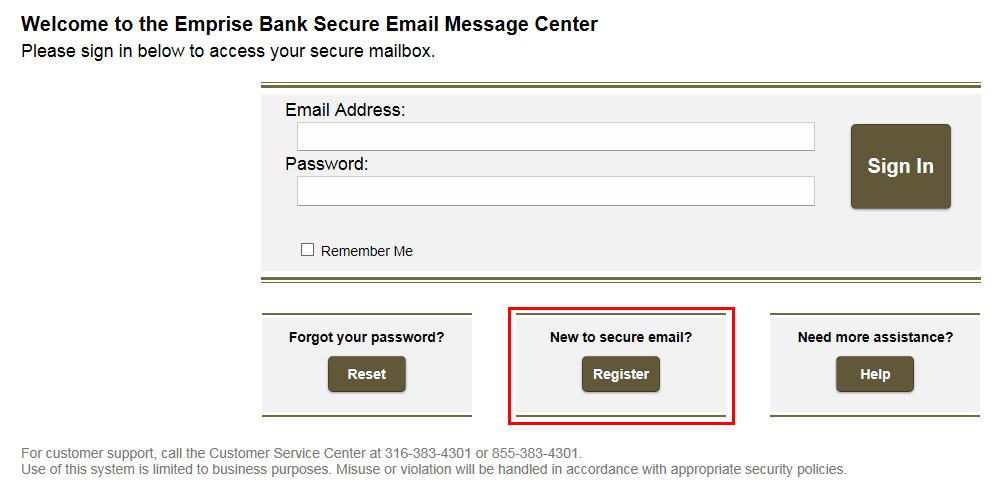 Secure Email Step 1
