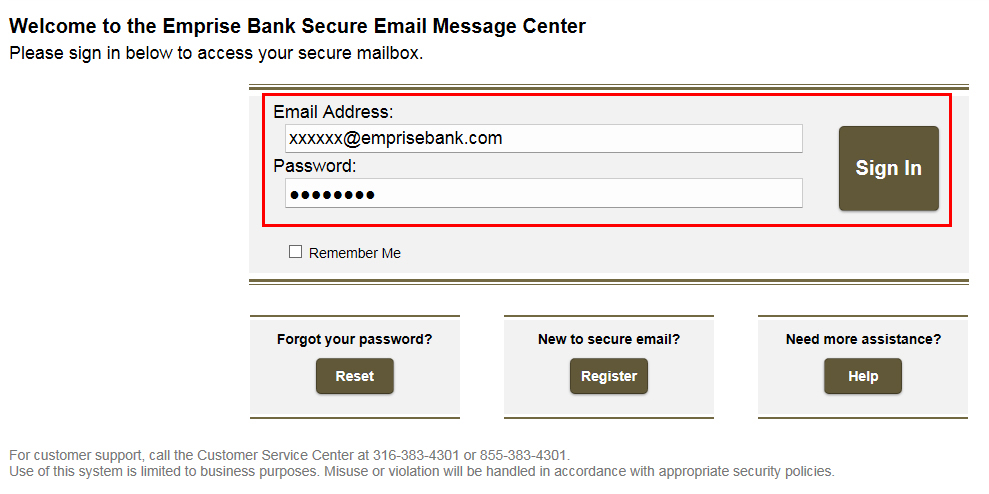 Secure Email Step 6