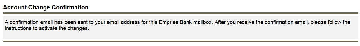 Secure Email Step 3