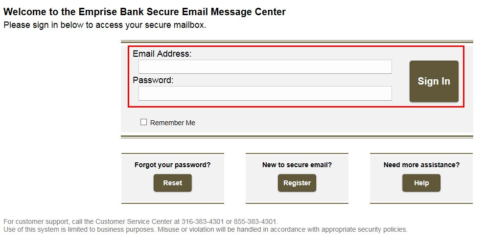Secure Email Step 2